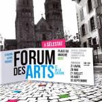 affiche  forum des arts et de la culture de Selestat 2013 Galerie La Paix